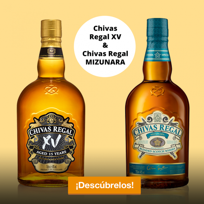 Chivas Regal XV y Chivas Regal Mizunara