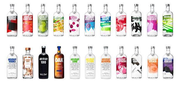 Absolut Vodka Variedades