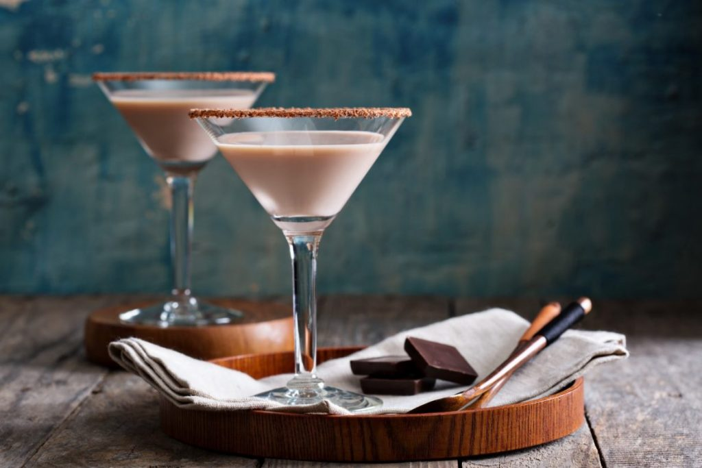 Coctel Martini de chocolate